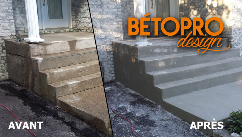 BétoProDesign / Réparation De Béton   Resurfaçage Du0027escalier En Béton